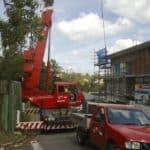 brisbane city crane trucks